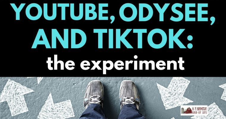 148: YouTube, Odysee, and Tiktok – The 4 week experiment