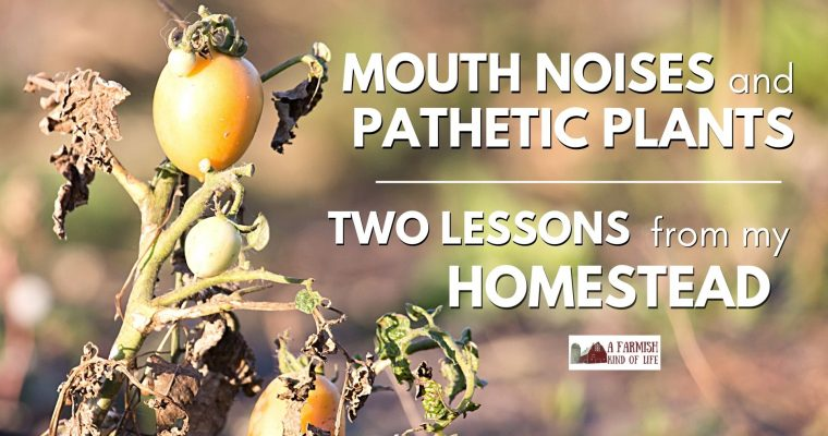158: Mouth Noises and Pathetic Plants: Two Random Lessons from the Homestead
