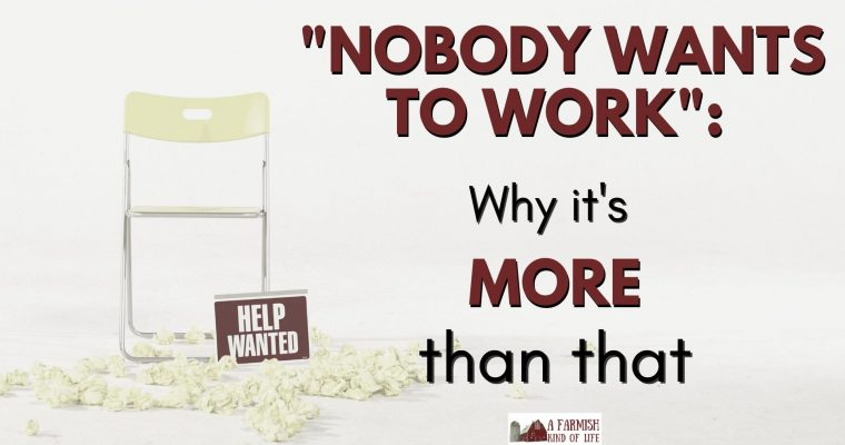 Nobody wants to work? It's more than that.