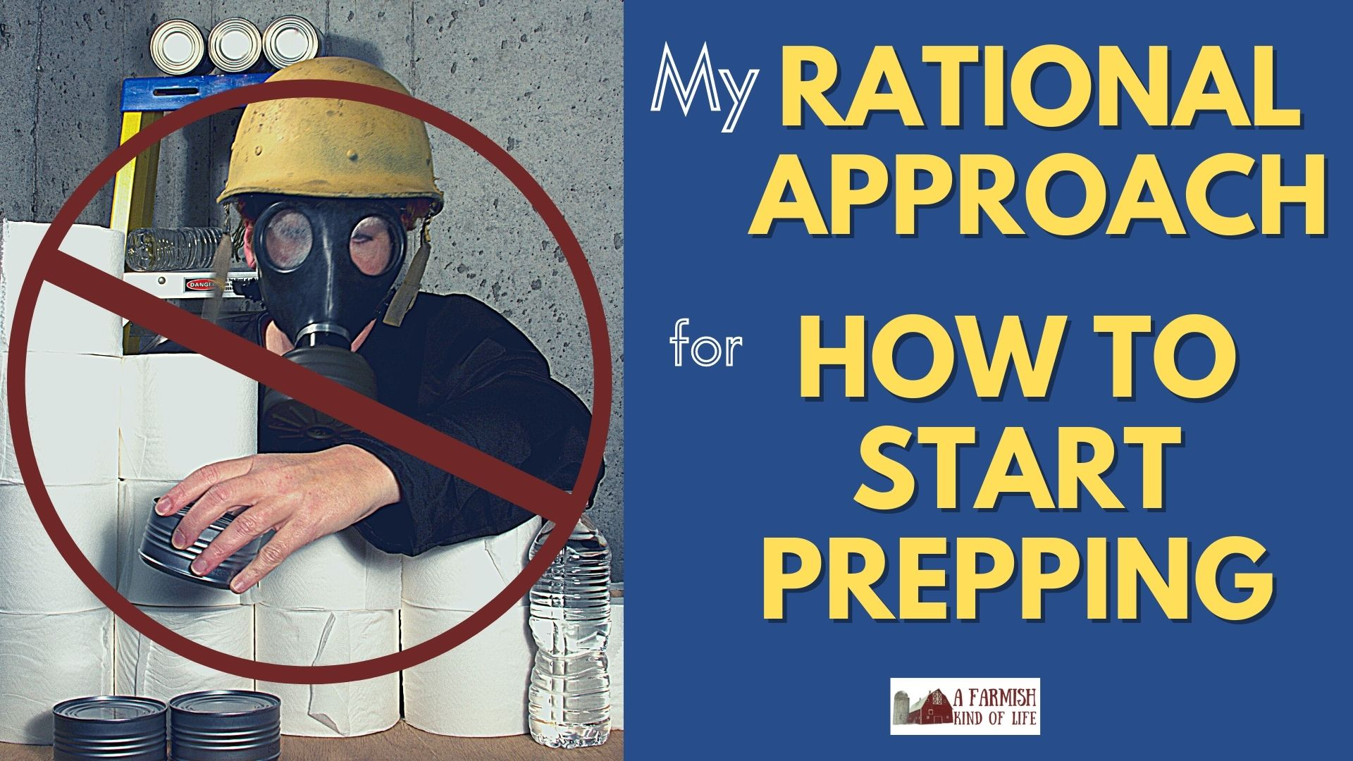 167: My (rational) approach for how to start prepping